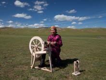 Les rouets nomades en Mongolie Vignette