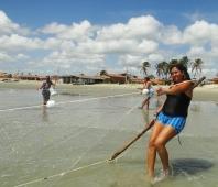 Mujeres de pescadores organizadas en Brasil Viñeta