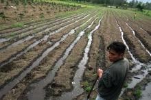 Division del agua en los Andes de Ecuador Viñeta