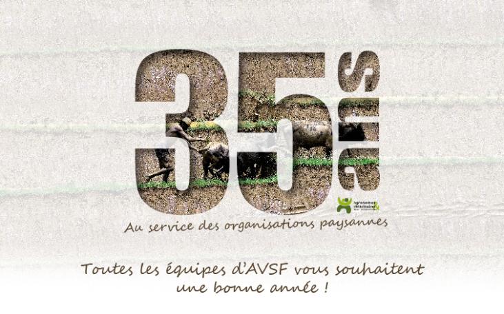 Pour ses 35 ans, AVSF vous souhaite une excellente année ! Image principale