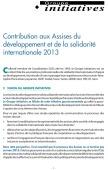 Contribution du Groupes Initiatives aux Assises de la Solidarité et du Développement 2013 Vignette