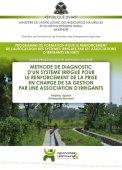 Méthode de diagnostic d'un système irrigué pour le renforcement de la prise en charge de sa gestion par une association d'irrigants Vignette