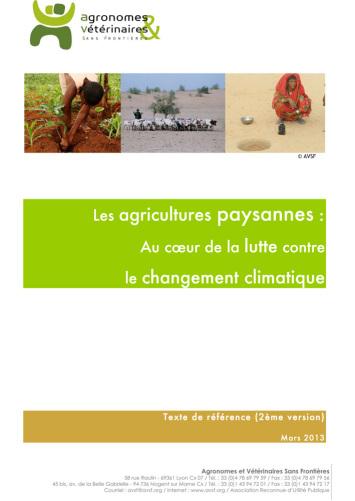 Les agricultures paysannes :  Au cœur de la lutte contre le changement climatique  Image principale