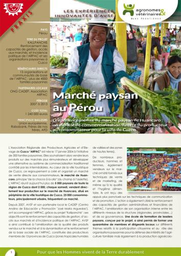 Les expériences innovantes d'AVSF : Marché paysan au Pérou  Image principale