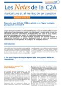 Répondre aux défis du XXIe siècle avec l'agro-écologie : pourquoi et comment ? La note de synthèse Vignette