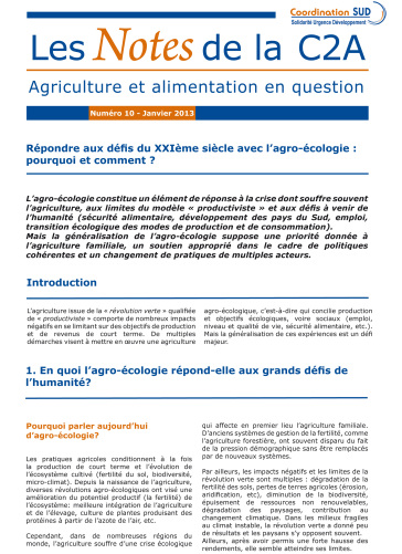 Répondre aux défis du XXIe siècle avec l'agro-écologie : pourquoi et comment ? La note de synthèse Image principale