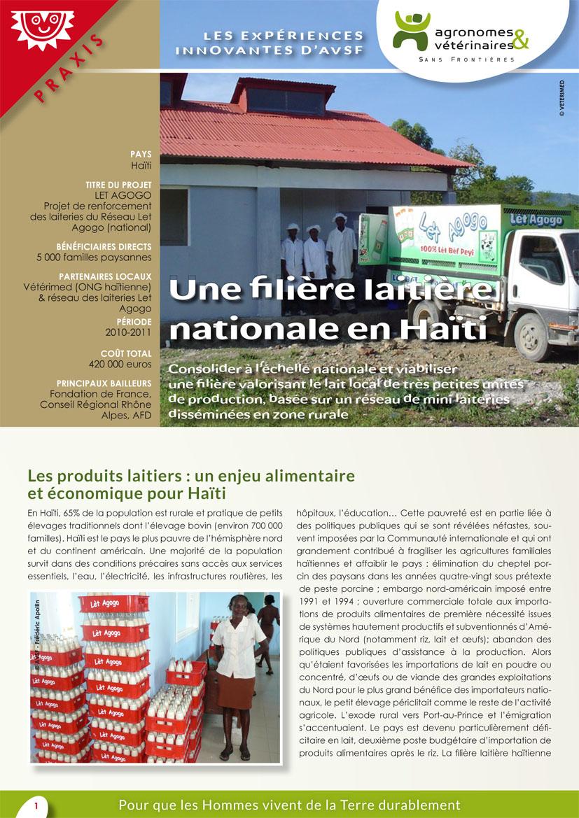 Les expériences innovantes d'AVSF : une filière laitière nationale en Haïti  Image principale