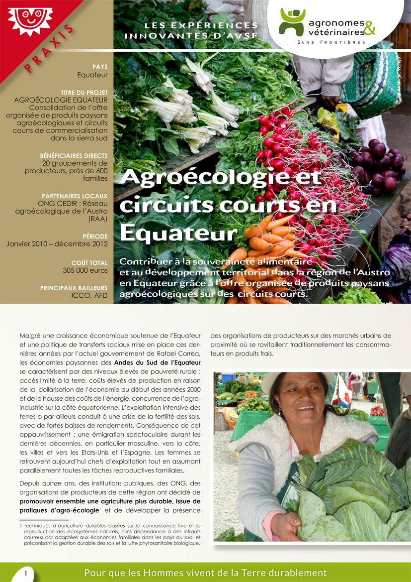 Les expériences innovantes d'AVSF : agroécologie et circuits courts en Equateur Image principale