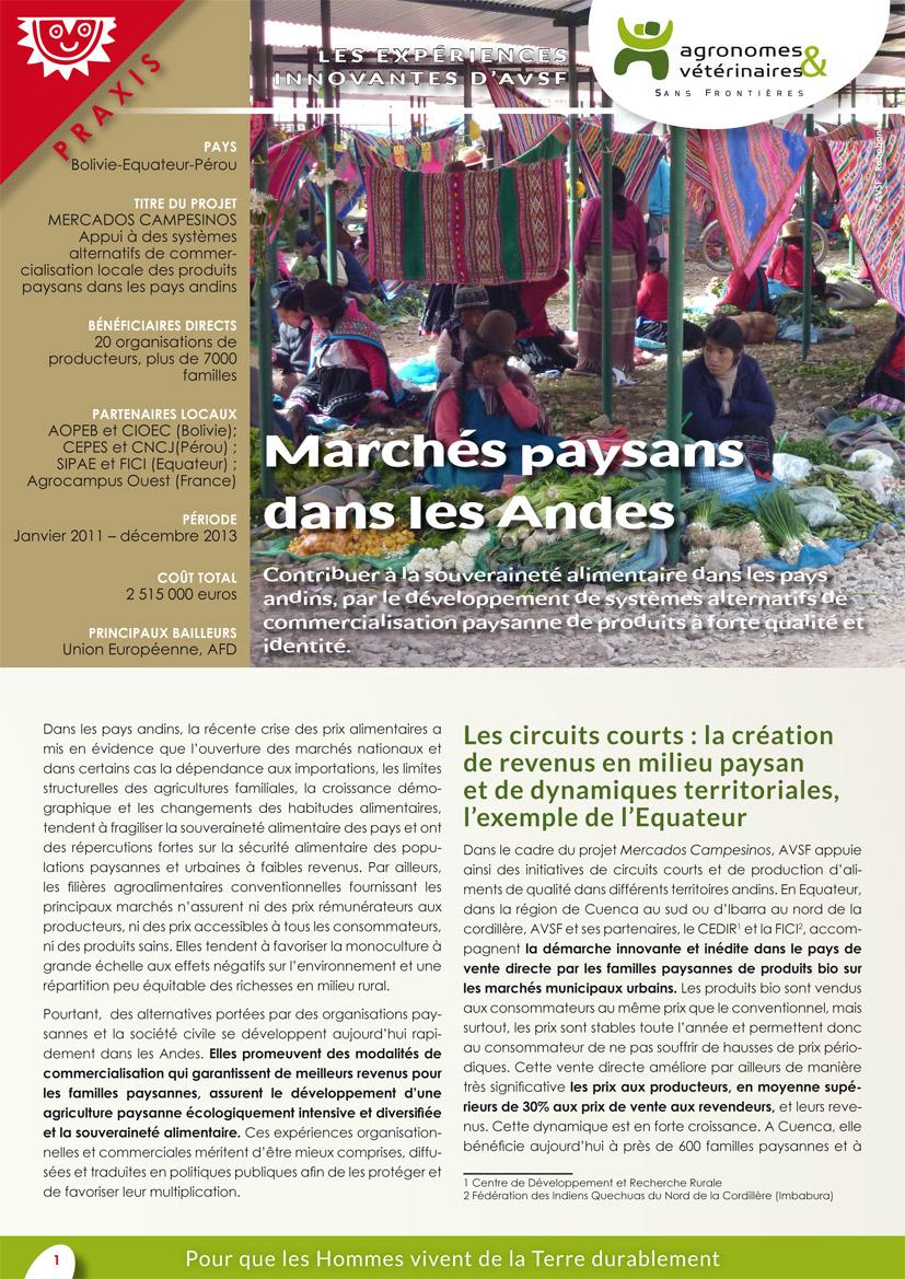 Les expériences innovantes d'AVSF : Des marchés paysans dans les Andes Image principale