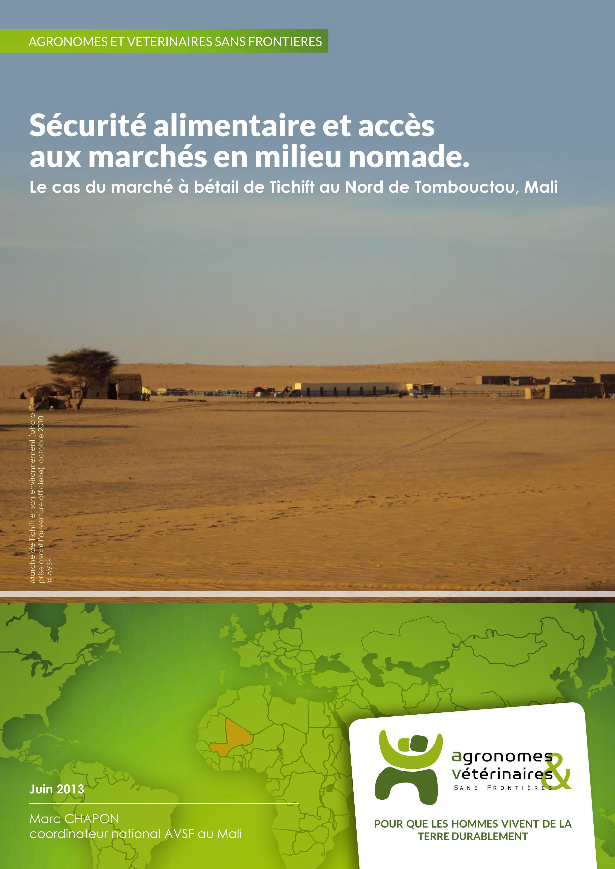 Sécurité alimentaire et accès aux marchés en milieu nomade : le marché de Tichift au Nord du Mali Image principale