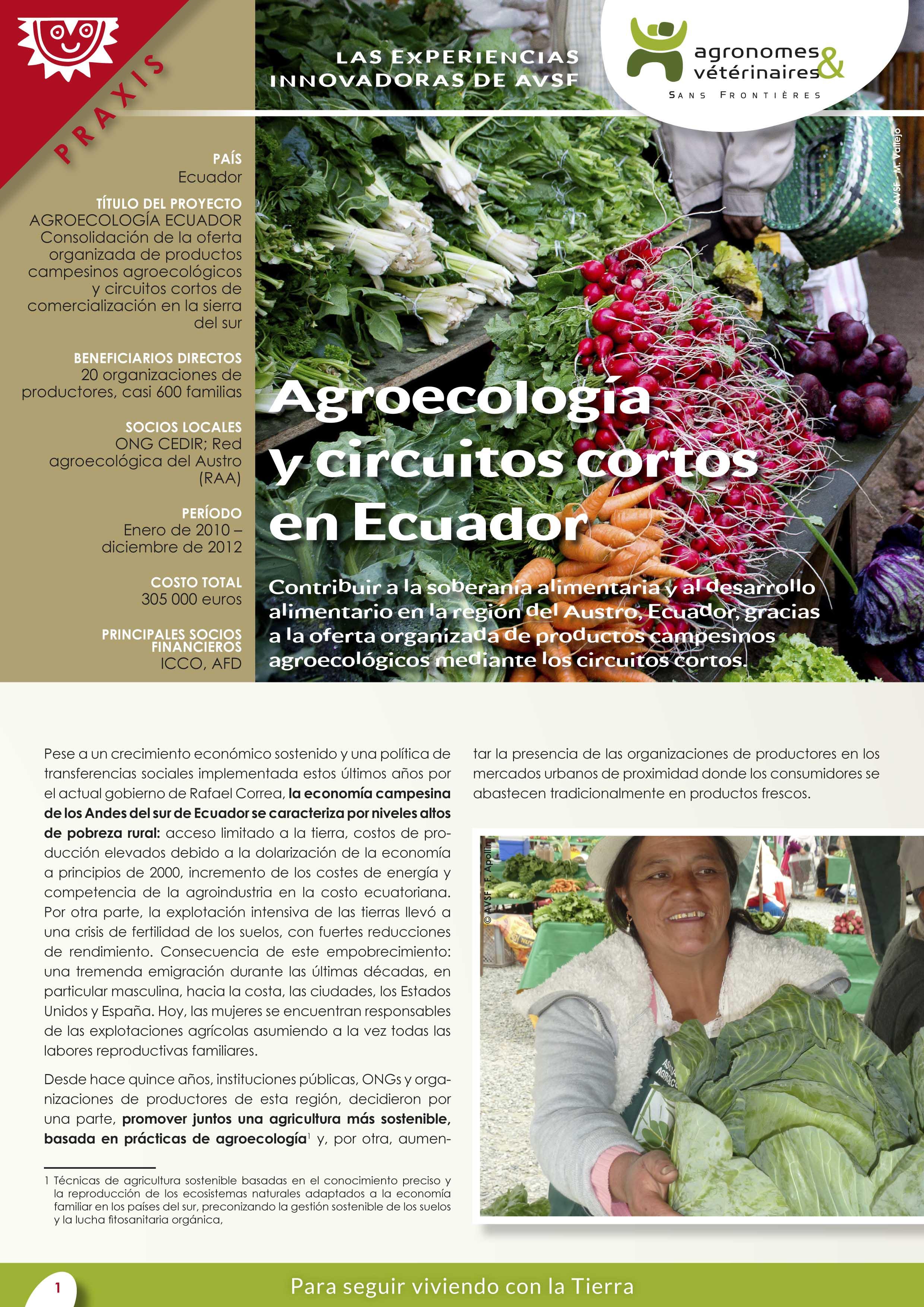 Las experiencias innovadoras de AVSF : Agroecología y circuitos cortos en Ecuador Image principale