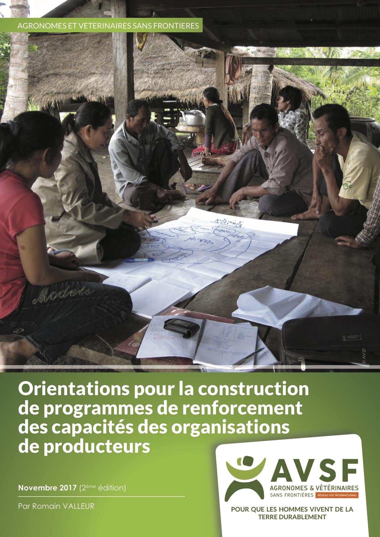 Orientations pour la construction de programmes de renforcement des capacités des organisations de producteurs Image principale