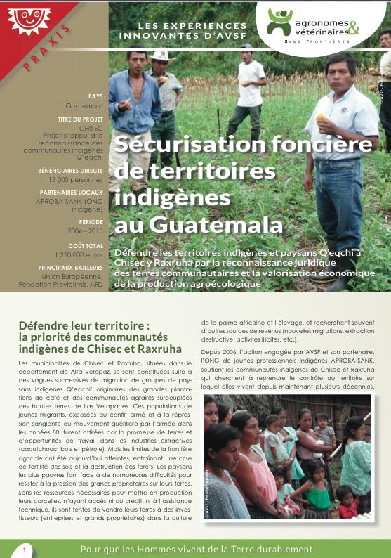 Lex expériences innovantes d'AVSF : Sécurisation foncière de territoires indigènes au Guatemala Image principale