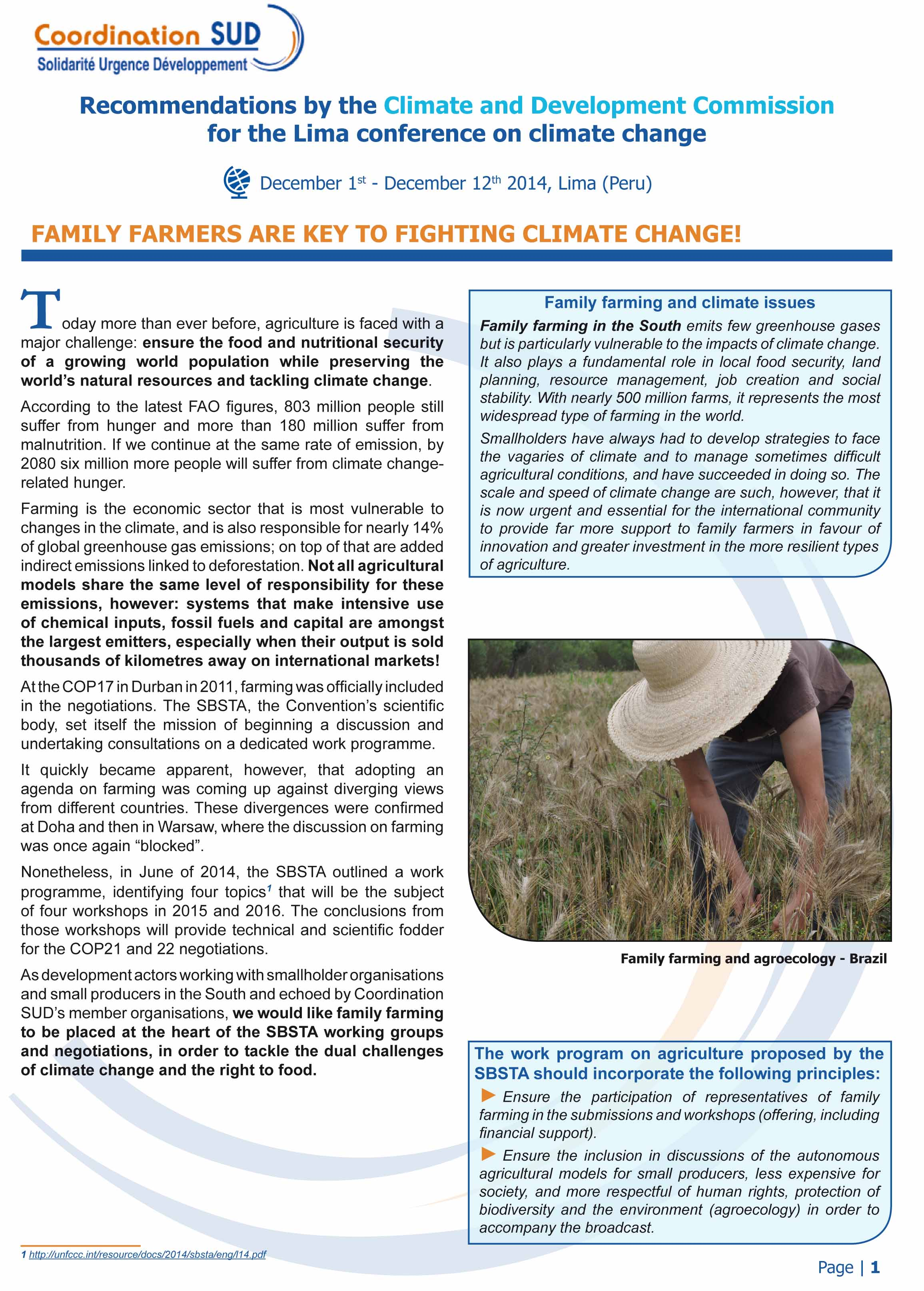 Family Farmers are key to fighting climate change!  Image principale