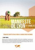 Manifeste de Lyon : Forum des Sociétés Civiles pour les Agricultures Paysannes Vignette