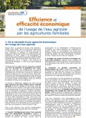 Efficience et efficacité économique de l'usage de l'eau agricole par les agricultures familiales Vignette