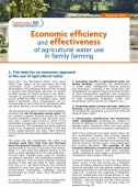 Economic efficiency and effectiveness of agricultural water use in family farming Vignette