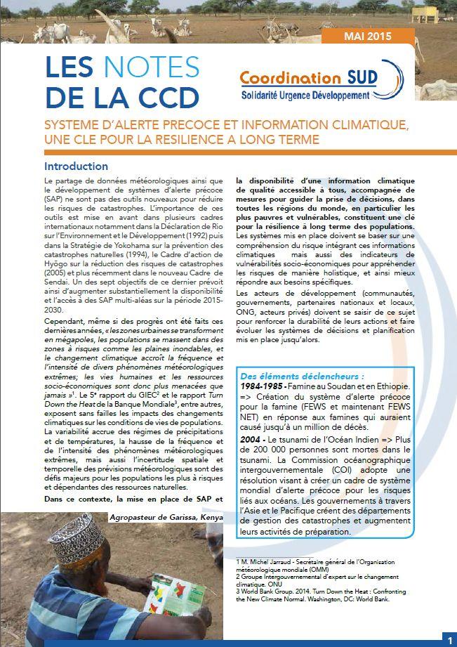 Système d'alerte précoce et information climatique, une clé pour la résilience à long terme Image principale