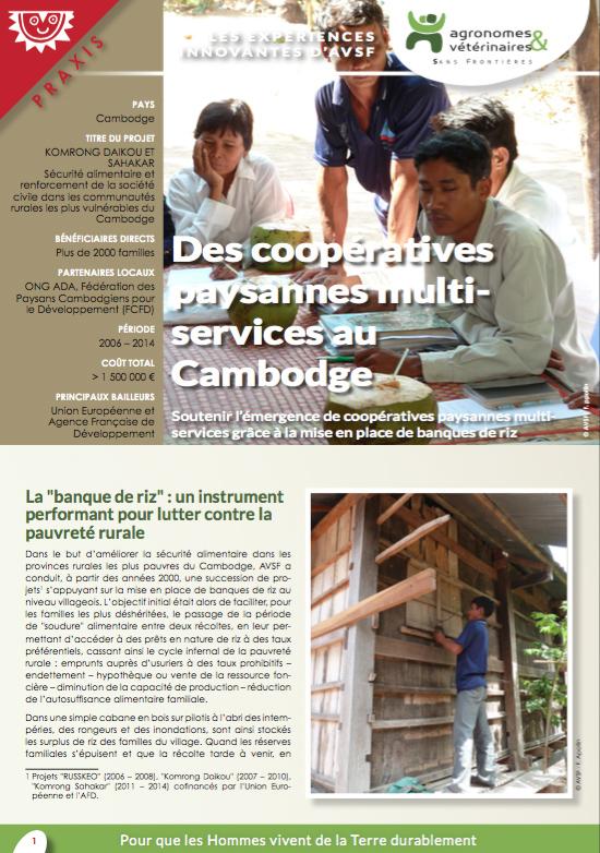 Les expériences innovantes d'AVSF : Des coopératives paysannes multi-services au Cambodge  Image principale