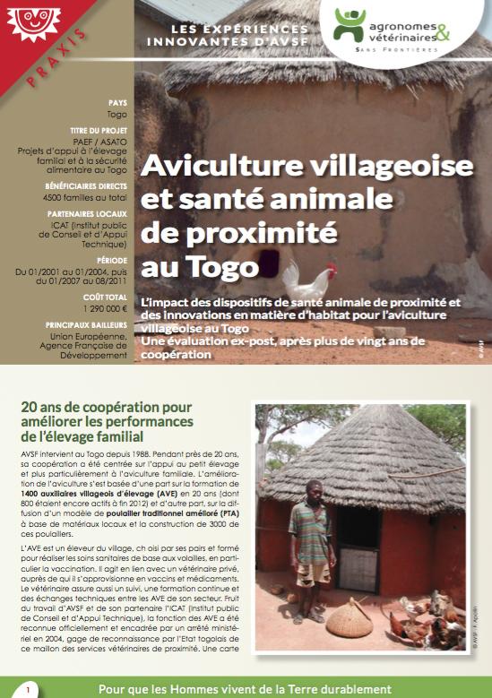 Les fiches d'expériences innovantes d'AVSF : Aviculture villageoise et santé animale de proximité au Togo  Image principale