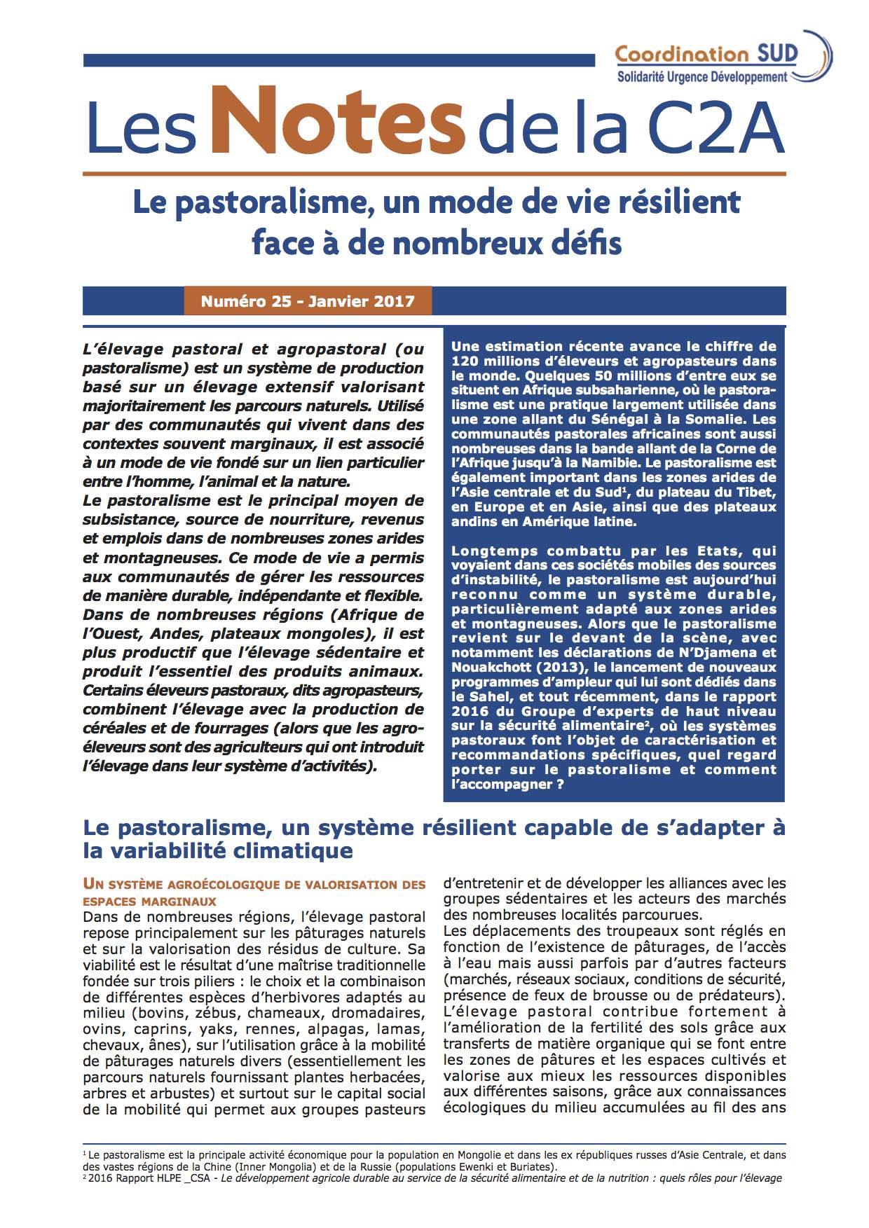 Le pastoralisme, un mode de vie résilient face à de nombreux défis Image principale