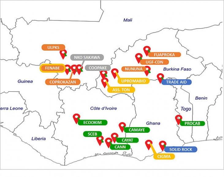 19 coopératives d'Afrique de l'Ouest soutenues dans le cadre du programme Equité Image principale
