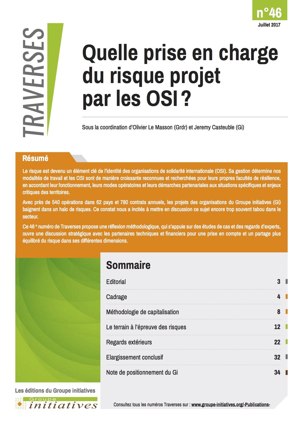 Quelle prise en charge du risque projet par les OSI  ? Image principale