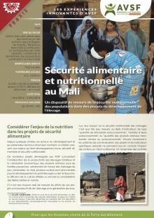 Les expériences innovantes d'AVSF : Sécurité alimentaire et nutritionnelle au Mali  Vignette