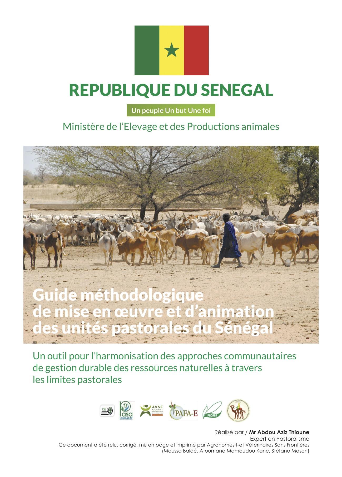 Guide méthodologique de mise en oeuvre et d'animation des unités pastorales au Sénégal  Image principale