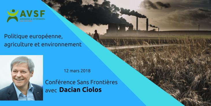 Conférence sans frontières avec Dacian Ciolos Image principale