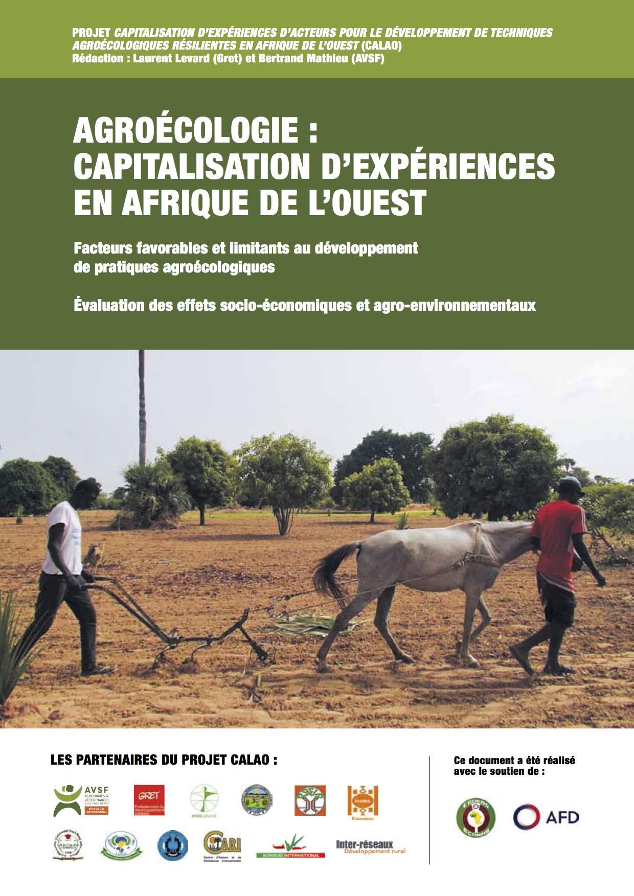 Agroécologie : capitalisation d'expériences en Afrique de l'Ouest : facteurs favorables et limitants au développement de pratiques agroécologiques ; évaluation des effets socio-économiques et agro-environnementaux  Image principale