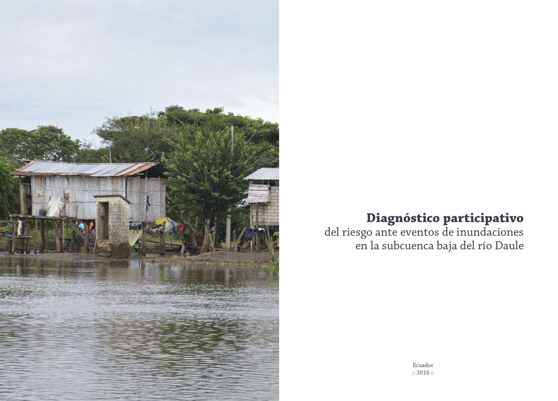 Diagnóstico participativo del riesgo ante eventos de inundaciones en la subcuenca del río Daule Image principale