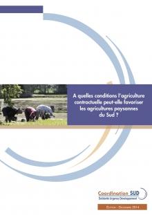 A quelles conditions l'agriculture  contractuelle peut-elle favoriser  les agricultures paysannes du Sud ? Vignette