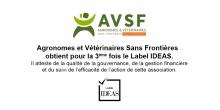AVSF obtient pour la 3e fois le Label IDEAS Vignette