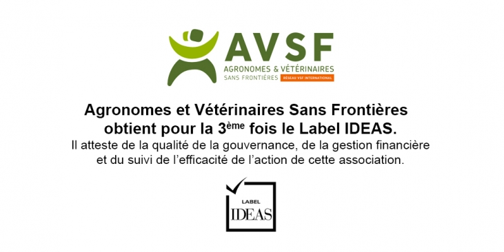 AVSF obtient pour la 3e fois le Label IDEAS Image principale
