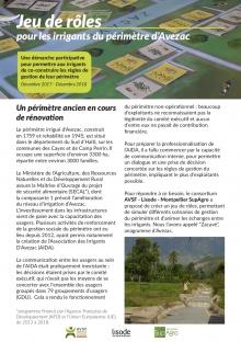 Un jeu de rôles pour les irrigants du périmètre d'Avezac en Haïti  Vignette