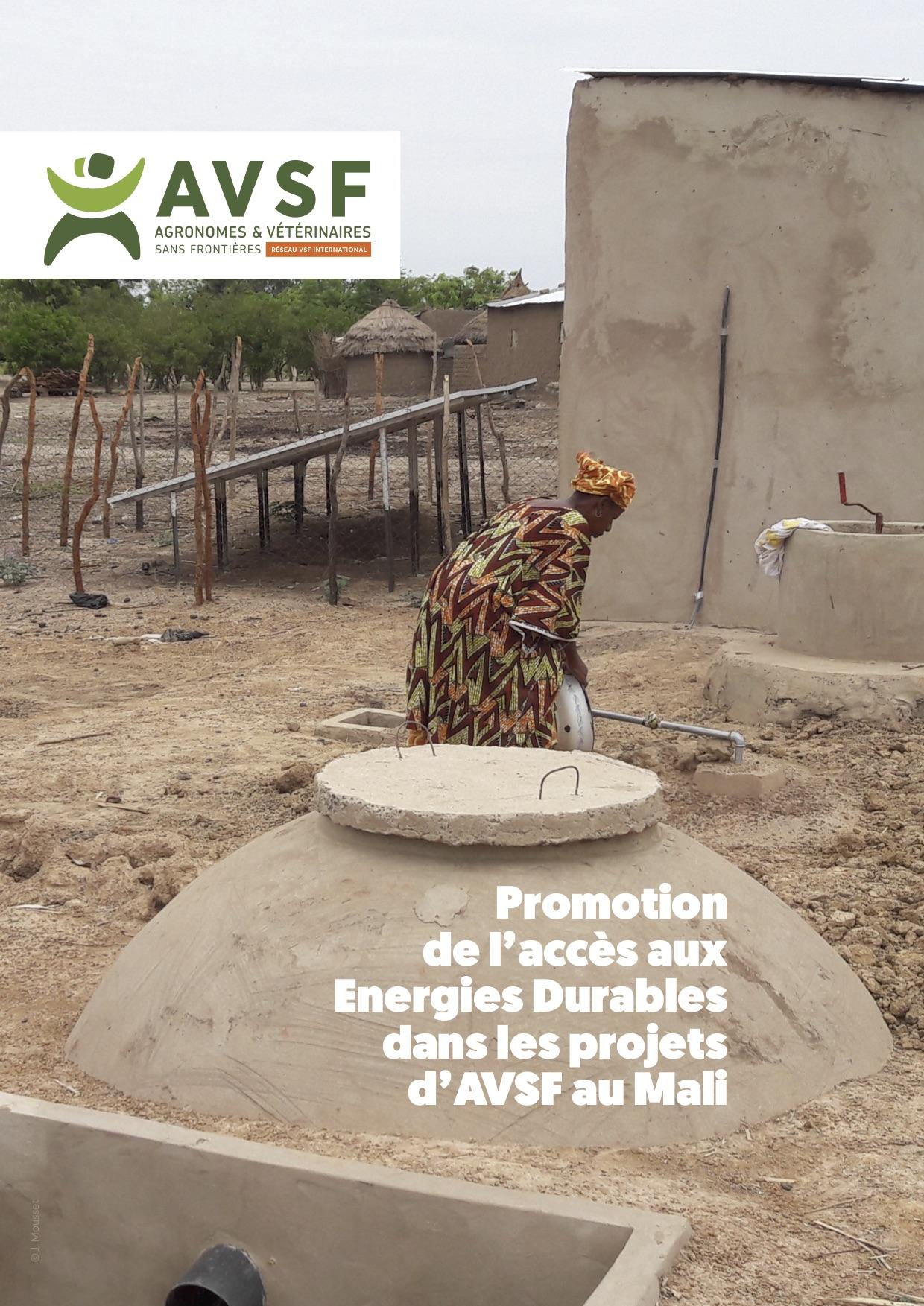 Promotion de l'accès aux Energies Durables dans les projets d'AVSF au Mali Image principale