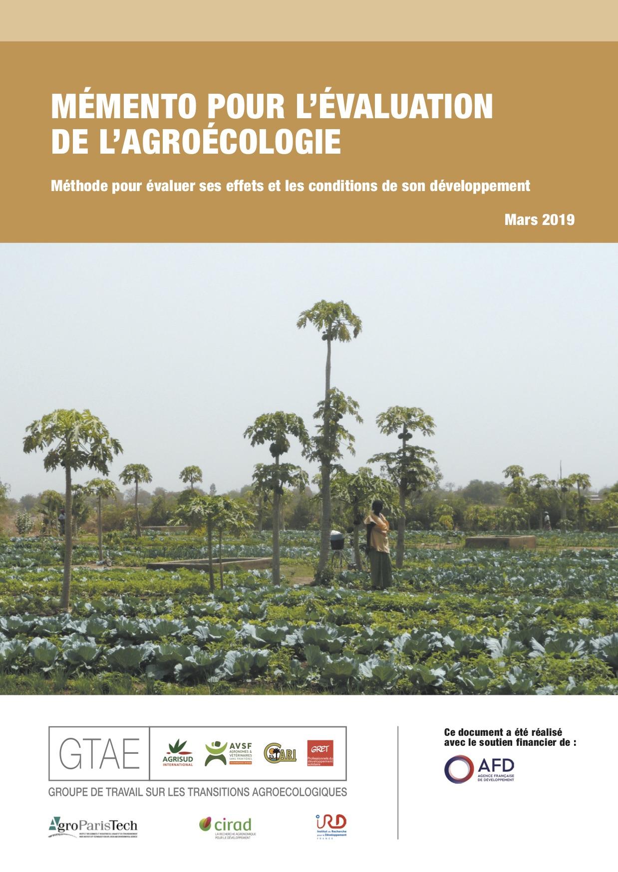 Mémento pour l'évaluation de l'agroécologie Image principale