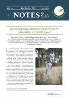 Quelles politiques publiques pour soutenir la transition agroécologique ? – Les Notes de SUD n°19  Vignette