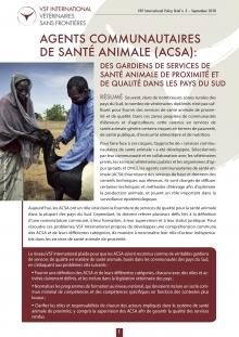 Agents communautaires de santé animale (ACSA) : des gardiens des services de santé animale de proximité et de qualité dans les pays du Sud Vignette