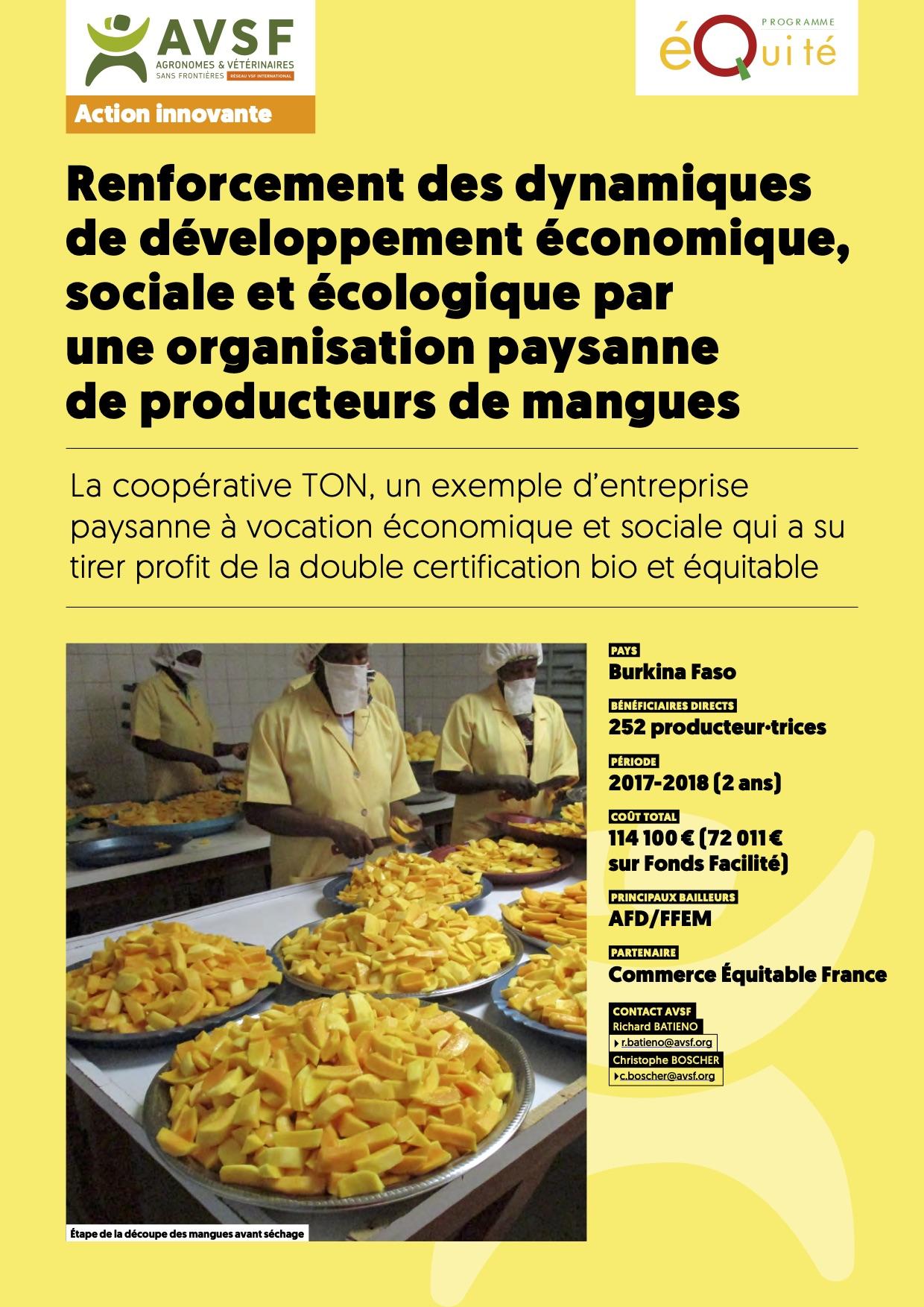 Commerce équitable et production paysanne de mangues bio au Burkina Faso  Image principale