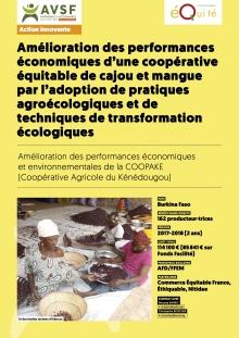 Les actions innovantes d'AVSF: commerce équitable et production agroéoclogique paysanne de cajou et mangue au Burkina Faso  Vignette