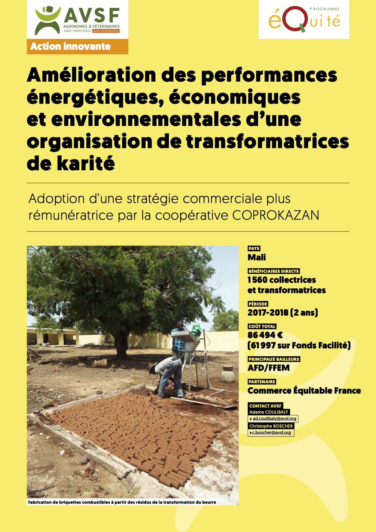 Les actions innovantes : Commerce équitable et production paysanne féminine de karité au Mali  Image principale