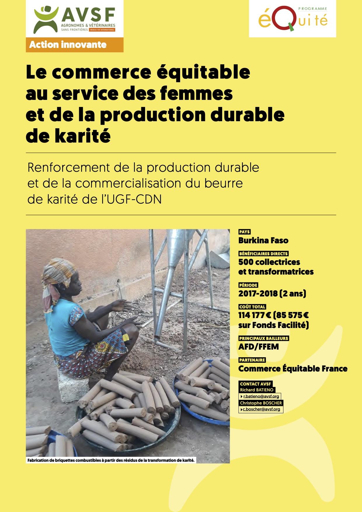 Les actions innovantes d'AVSF : Commerce équitable et production paysanne féminine de karité au Burkina  Image principale