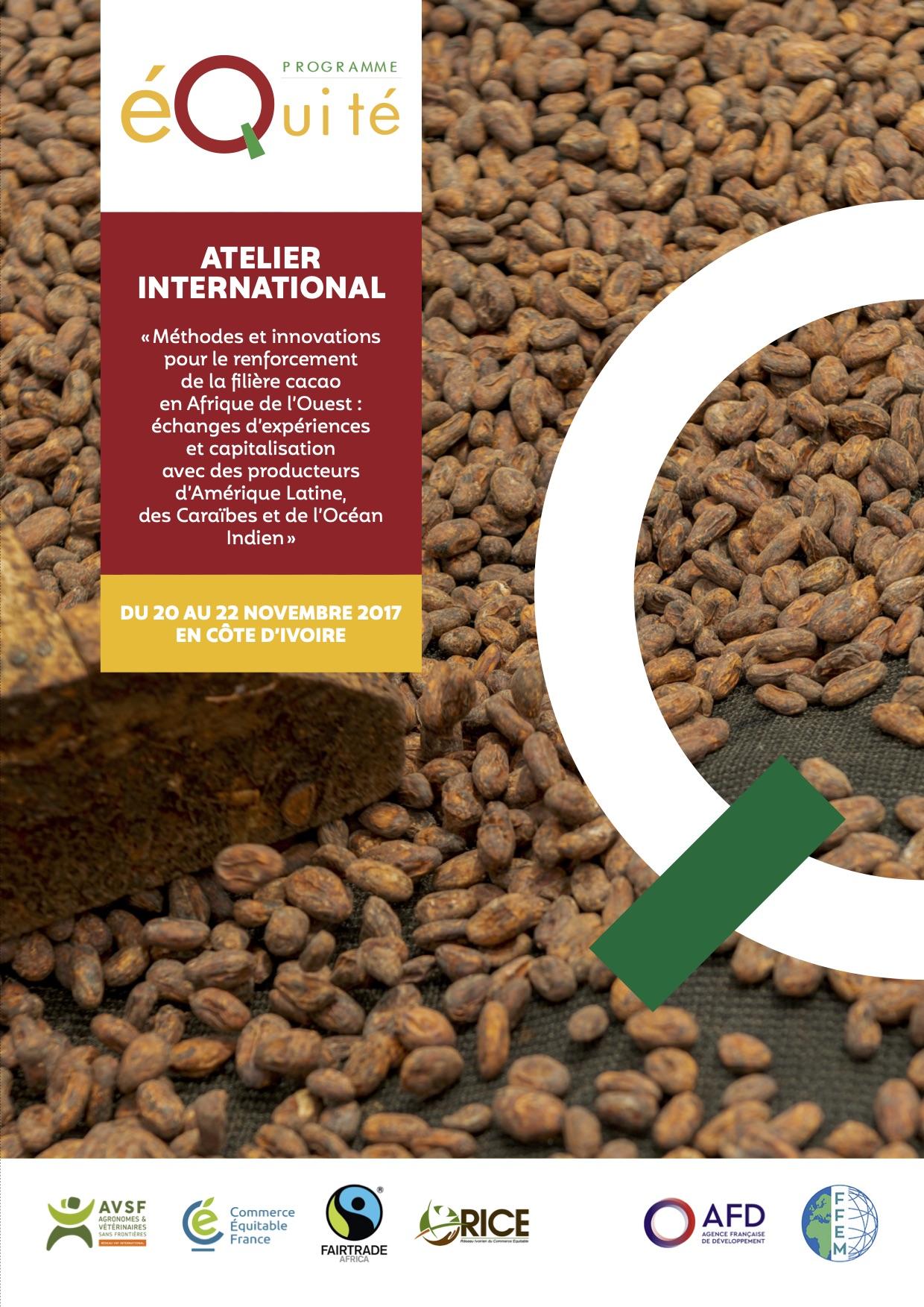 Méthodes et innovations pour le renforcement de la filière cacao en Afrique de l'Ouest : échanges d'expériences et capitalisation avec des producteurs d'Amérique Latine, des Caraïbes et de l'Océan Indien Image principale