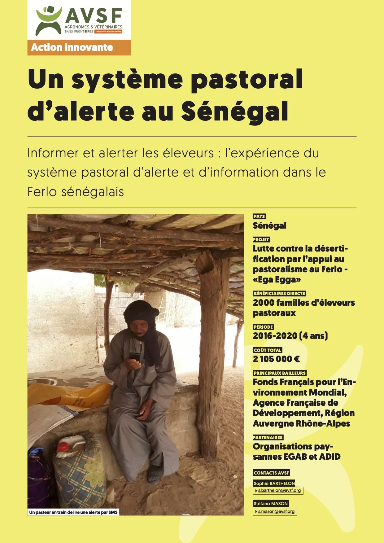 Lex expériences innovantes d'AVSF : Un système pastoral d'alerte au Sénégal Image principale