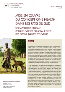 Mise en œuvre du concept One Health dans les pays du Sud : policy brief de VSF-International Vignette