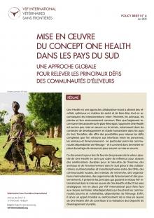 Mise en œuvre du concept One Health dans les pays du Sud : policy brief de VSF-International Vignette