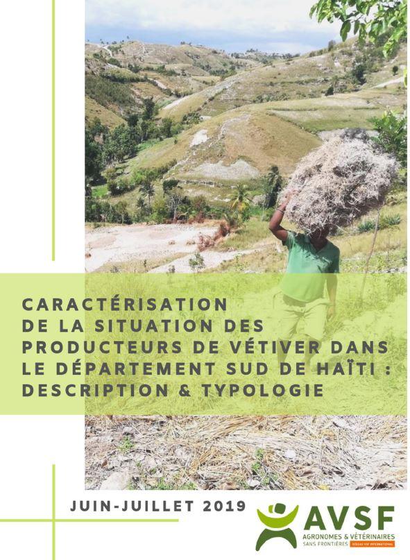 Caractérisation de la situation des producteurs de vétiver dans le sud d'Haïti : description et typologie Image principale