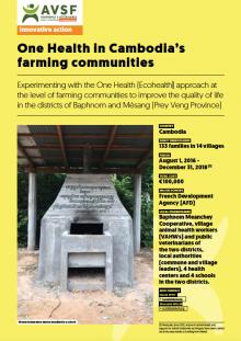Les actions innovantes d'AVSF : Une Seule Santé au sein des communautés paysannes du Cambodge - en-gb -> à traduire Vignette